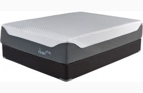 """Chime Elite 14"""" Blue Firm Queen Size Mattress with Foundation"""