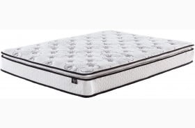 """Chime 10"""" Bonnell Pillowtop White Queen Mattress with Foundation"""