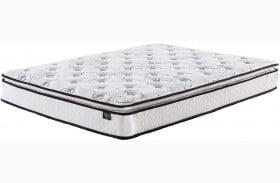 """Chime 10"""" Bonnell Pillowtop White King Mattress"""