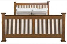 Mission Hill Medium Harvest Slat Panel Bed
