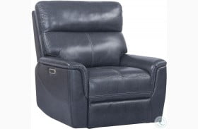Reed Indigo Leather Power Recliner