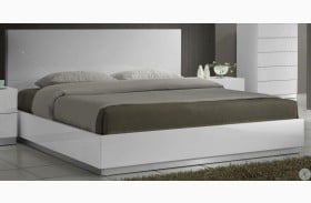 Naples White Lacquer Youth Platform Bed