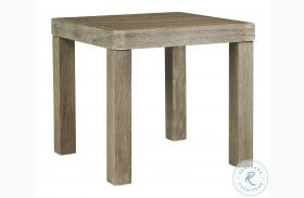 Silo Point Brown Outdoor Square End Table