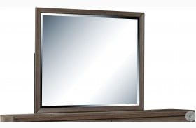 Hanover Square Framed Elm Brown Mirror