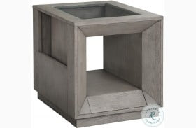 Pure Modern Soft Moonstone Glass Top End Table