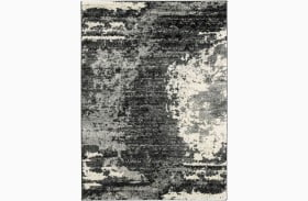 Roskos Black and Gray Large Rug