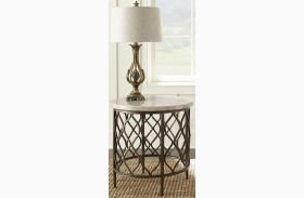 Roland Gray and Brown End Table