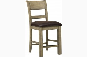 Flatbush Brown Leather Gathering Chair Set of 2
