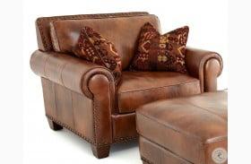 Silverado Caramel Brown Leather Chair
