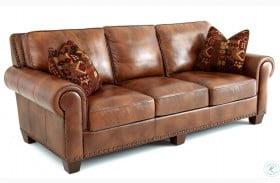 Silverado Caramel Brown Leather Sofa