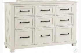 Sun Valley White 9 Drawer Dresser
