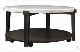 Janilly Dark Brown And White Coffee Table