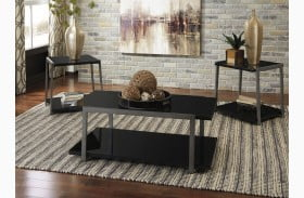 Rollynx Black 3 Piece Occasional Table Set