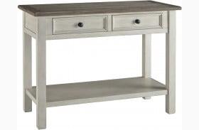 Bolanburg Antique White Weathered Gray Sofa Table