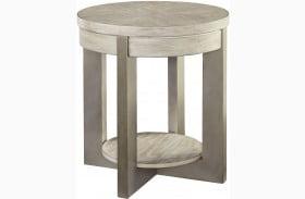 Urlander Whitewash End Table