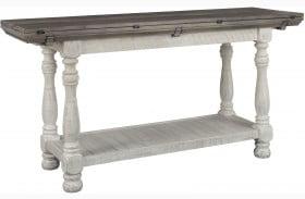 Havalance Gray and White Large Sofa Table