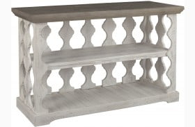 Havalance Gray and White Small Sofa Table