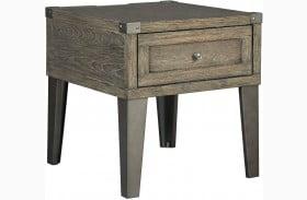 Chazney Rustic Brown Rectangular End Table