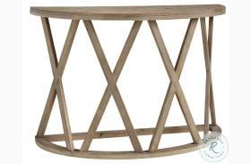Glasslore Light Grayish Brown Sofa Table