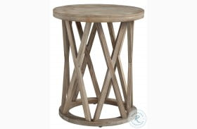 Glasslore Light Grayish Brown End Table