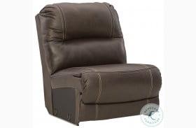 Dunleith Chocolate Armless Chair