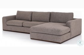 Centrale Colt Gaston Pewter 2 Piece RAF Chaise Sectional