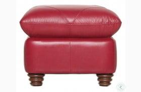 Sara Cherry Italian Leather Ottoman