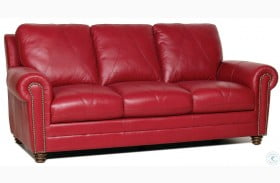 Sara Cherry Italian Leather Sofa