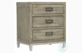 Highland Park Morel And Glazed Silver Loft Shaw Small Nightstand