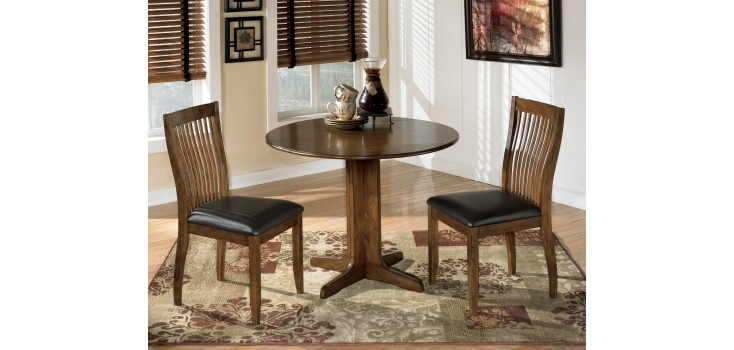 Stuman Round Drop Leaf Dining Table Set
