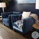 Electric Oak Veneer And Black Moon Nesting Tables