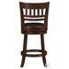 Edmond Dark Cherry Slat Back Swivel Counter Height Chair Set of 2