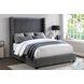 Glenbury Dark Gray Full Upholstered Panel Bed In A Box