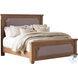Florence Rustic Smoke King Upholstered Panel Bed