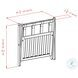 Remy Cappuccino Luggage Rack with Shelf