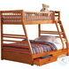 Ashton Honey Twin Over Full Bunk Bed