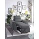 Ferriday Gray Chair With Pull Out Ottoman