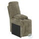 Lubec Taupe Power Reclining Loveseat Sectional