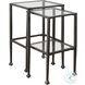 901073 Black Metal Large Nesting Table Set