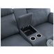 Clifton Blue Double Glider Reclining Loveseat With Center Console