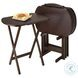 Corbett Antique Walnut Oversize Oblong Snack Table Set of 5