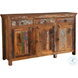 950367 Reclaimed Wood 3 Drawer Accent Cabinet