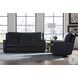 Curated Carter Hudson Jet Black Leather Power Reclining Living Room Set