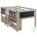 Wrenalyn Beige Twin Bookcase Loft Bed
