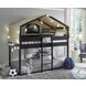 Flannibrook Black Twin Over Twin House Loft Bed
