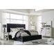 Lindenfield Black Upholstered Platform Bedroom Set