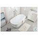 "Coralie Glossy White 59"" Bath Tub"