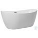 BT10354GW Ines Glossy White Oval Bathtub