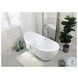 "Ines Glossy White 67"" Bath Tub"