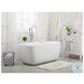 "Calum Glossy White 59"" Bath Tub"